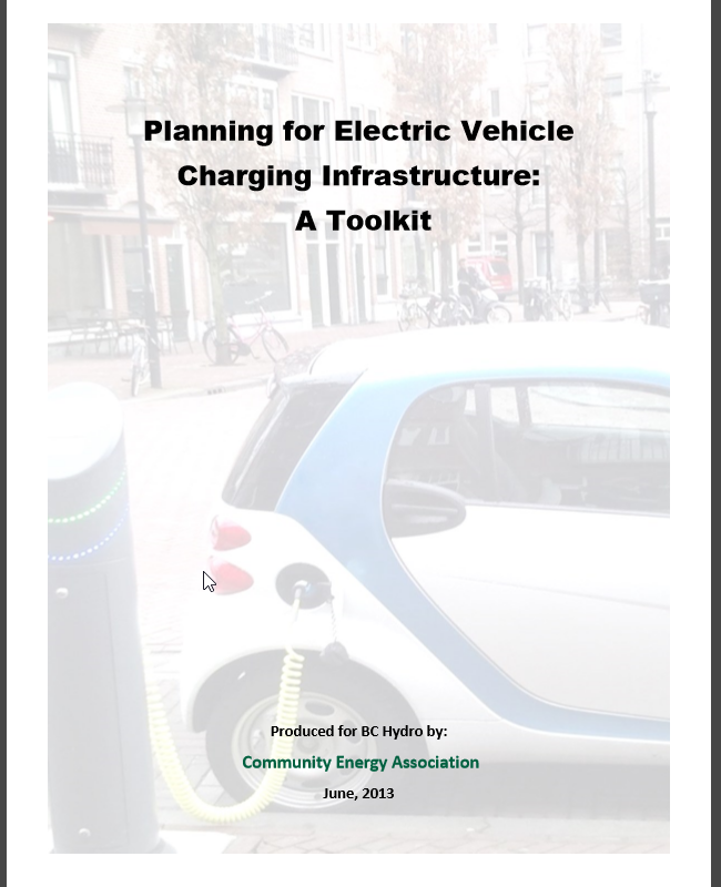 Planning for Charging Infrastructure: A Toolkit – Atlas EV Hub