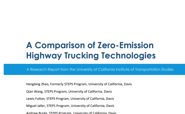 A Comparison of Zero-Emission Highway Trucking Technologies
