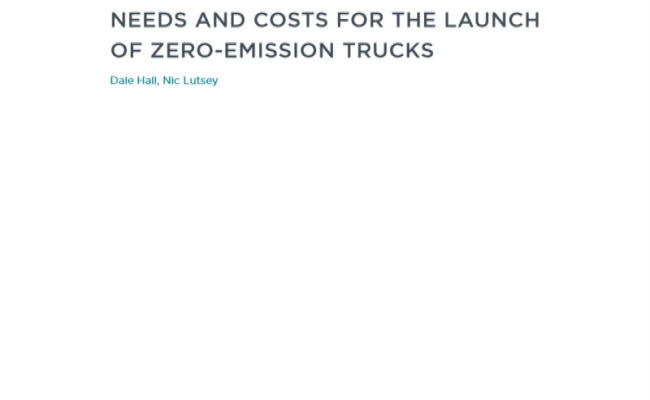 Estimating the infrastructure needs and costs for the launch of zero-emission trucks