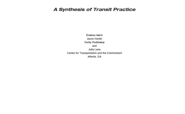 Battery Electric Buses - State of the Practice