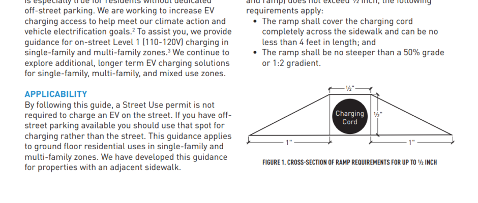 Electric Vehicle Charging Cord Guidance For Crossing The Public Right-Of-Way