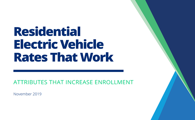 Residential Electric Vehicle Rates That Work