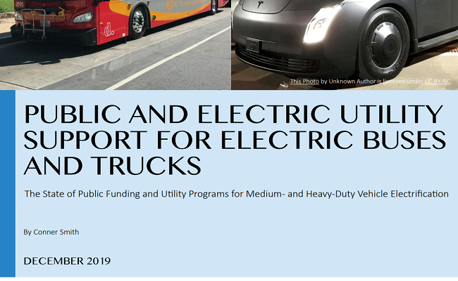 Public and Electric Utility Support for Electric Buses and Trucks