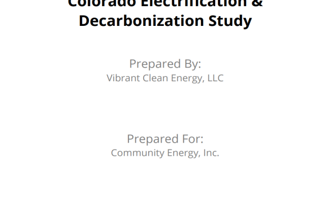 Colorado Electrification & Decarbonization Study