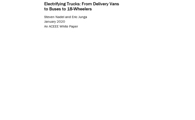 Electrifying Trucks: From Delivery Vans  to Buses to 18-Wheelers