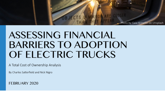 Assessing Financial Barriers to the Adoption of Electric Trucks