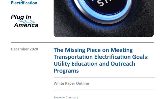The Missing Piece on Meeting Transportation Electrification Goals: Utility Education and Outreach Programs