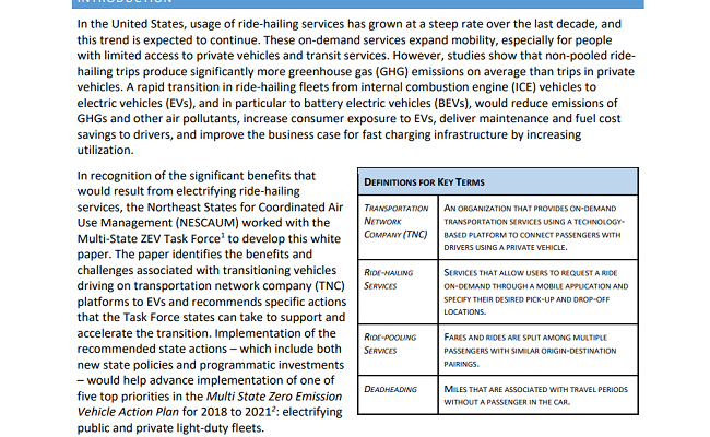 Accelerating Ride-Hailing Electrification: Challenges, Benefits, and Options for State Action