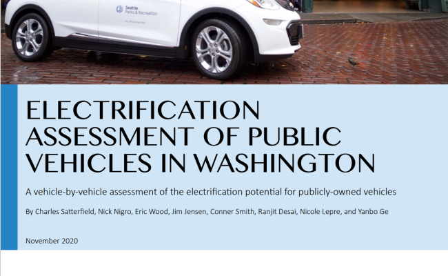 Electrification Assessment of Public Vehicles in Washington